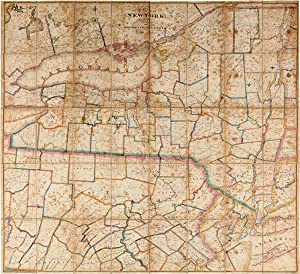 MAP OF THE STATE OF NEW YORK WITH PART OF THE STATES OF PENNSYLVANIA, NEW JERSEY &c. COMPILED, CO...