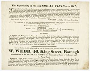 [PRINTED TRADE ADVERTISEMENT TESTIFYING TO THE SUPERIORITY OF AMERICAN FLUID OVER REGULAR OIL]