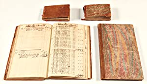 [COLLECTION OF FOUR MANUSCRIPT VOLUMES BELONGING TO TRADESMAN JOHN BROWNE, COMPRISED OF TWO LEDGE...