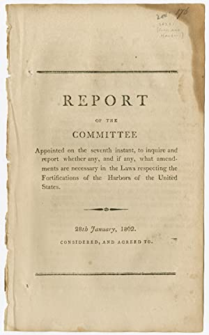REPORT OF THE COMMITTEE APPOINTED ON THE SEVENTH INSTANT, TO INQUIRE AND REPORT WHETHER ANY, AND ...