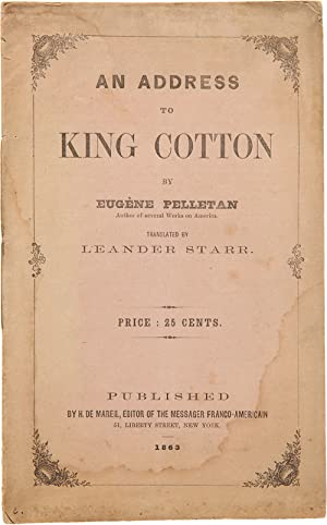 AN ADDRESS TO KING COTTON.[wrapper title]
