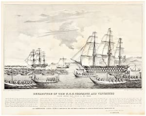 THE U.S.S. COLUMBUS AND VINCENNES IN JAPAN. [with:] DEPARTURE OF THE U.S.S. COLUMBUS AND VINCENNE...