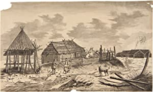 SKETCH OF THE HUTS OF KAMCHATKA COPIED AFTER COOK [translation of portion of manuscript caption t...