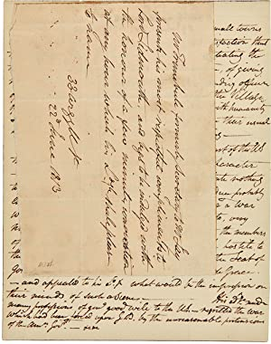 [AUTOGRAPH LETTER, SIGNED, FROM JOHN TRUMBULL TO LORD SIDMOUTH, ACCOMPANIED BY TRUMBULL'S NOTES O...
