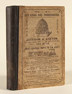 1856-57. MILWAUKEE CITY DIRECTORY, AND BUSINESS ADVERTISER, CONTAINING LOCAL AND GENERAL STATISTI...