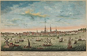 AN EAST PERSPECTIVE VIEW OF THE CITY OF PHILADELPHIA, IN THE PROVINCE OF PENSYLVANIA, IN NORTH AM...