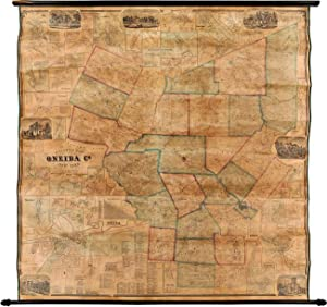 GILLETTE'S MAP OF ONEIDA CO. NEW YORK FROM ACTUAL SURVEYS UNDER THE DIRECTION OF J.H. FRENCH