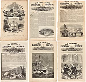[COLLECTION OF ORIGINAL LEAVES OF The Illustrated London News REGARDING CANADA, ALASKA, AND GREEN...