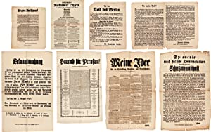 [GROUP OF NINE POLITICAL BROADSIDES RELATING TO THE 1848 REVOLUTIONS IN GERMANY]