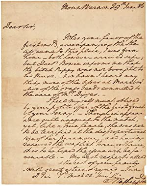 [AUTOGRAPH LETTER, SIGNED, FROM GEORGE WASHINGTON TO RICHARD SPRIGG, REGARDING A DONKEY]