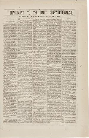 SUPPLEMENT TO THE DAILY CONSTITUTIONALIST. AUGUSTA, GA., SUNDAY MORNING, SEPTEMBER 3, 1865