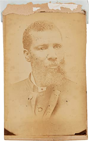 [ALBUMEN PHOTOGRAPH OF REV. SAMUEL HARRISON, CHAPLAIN OF THE FAMED 54th MASSACHUSETTS COLORED INF...