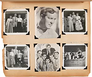 [ANNOTATED VERNACULAR PHOTOGRAPH ALBUM KEPT BY AN EARLY POPULAR MUSIC FAN, FEATURING BILL HALEY &...