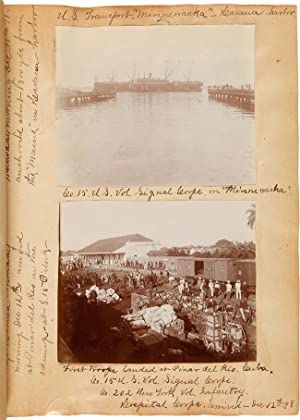 [PROFUSELY ANNOTATED VERNACULAR PHOTOGRAPH ALBUM KEPT BY 2nd LIEUTENANT HORACE C. LANSING, DOCUME...