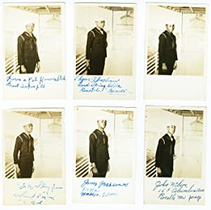 [COLLECTION OF THIRTEEN REAL PHOTO POSTCARDS SIGNED BY AFRICAN-AMERICAN MIDSHIPMEN DURING WORLD W...