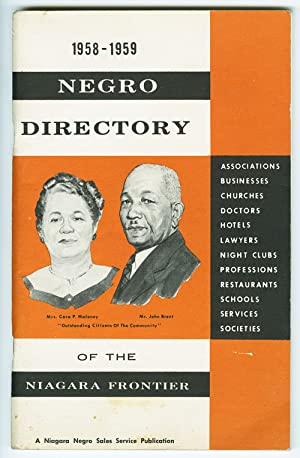 NEGRO DIRECTORY OF THE NIAGARA FRONTIER 1958 - 1959