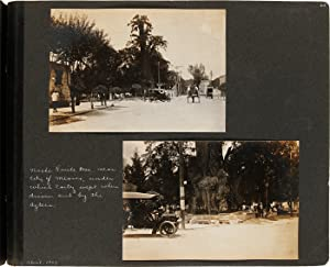 [ANNOTATED VERNACULAR PHOTOGRAPH ALBUM OF AN AUTOMOBILE TRIP THROUGH MEXICO AT THE TURN OF THE 20...