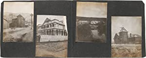 [EARLY ALASKAN AND YUKON TERRITORY VERNACULAR PHOTOGRAPH ALBUM WITH IMAGES OF THE KLONDIKE GOLD R...