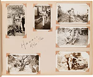 [PHOTOGRAPH ALBUM OF UNITED STATES ARMY SSGT. HARVEY D. BURGSTRESSER IN THE SOUTH PACIFIC DURING ...