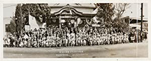 [PANORAMIC PHOTOGRAPH CELEBRATING THE ANNIVERSARY OF THE OPENING OF THE BUDDHIST SCHOOL AT THE LO...