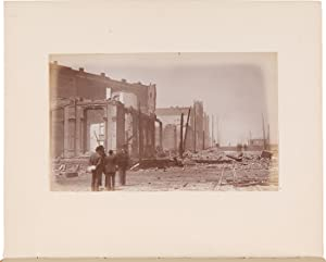 [ALBUM OF TWENTY-EIGHT CONTEMPORARY PHOTOGRAPHS OF THE AFTERMATH OF THE GREAT SEATTLE FIRE OF 1889]