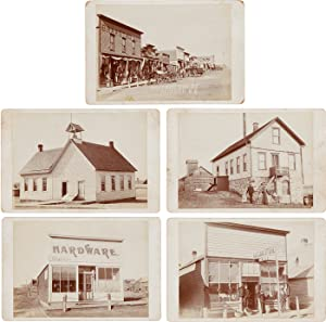 [FIFTEEN CABINET CARD PHOTOGRAPHS DOCUMENTING THE WILD WEST TOWN OF ALCESTER, SOUTH DAKOTA]