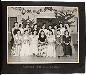 [ANNOTATED VERNACULAR PHOTOGRAPH AND SCRAPBOOK ALBUM RECORDING THE LIFE OF JAPANESE-AMERICAN WOMA...