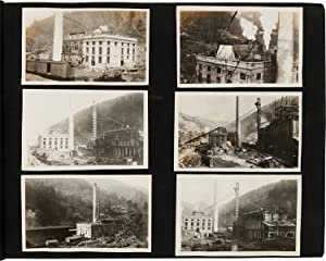 [VERNACULAR PHOTOGRAPH ALBUM DOCUMENTING THE CONSTRUCTION OF THE U.S. COAL AND COKE COMPANY MININ...