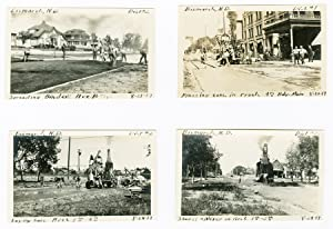 [COLLECTION OF FORTY-THREE ORIGINAL ANNOTATED VERNACULAR PHOTOGRAPHS DOCUMENTING ROAD PAVING PROJ...
