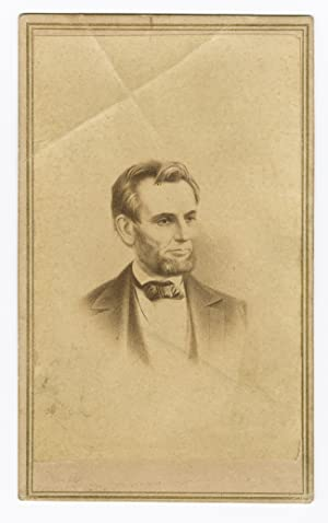 [MEMORIAL CARTE DE VISITE PHOTOGRAPH OF ABRAHAM LINCOLN]