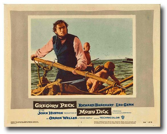 Seven original color studio lobby cards for MOBY DICK [ Melville, Herman, and Ray Bradbury]