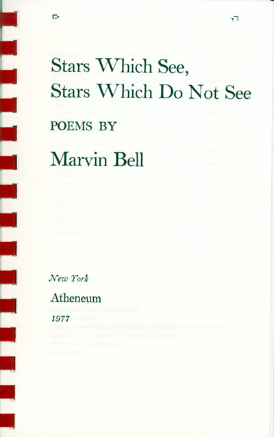 STARS WHICH SEE, STARS WHICH DO NOT SEE Bell, Marvin