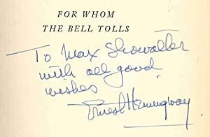 FOR WHOM THE BELL TOLLS.: Hemingway, Ernest: