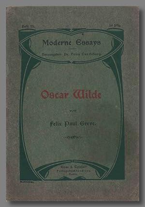 OSCAR WILDE: Wilde, Oscar]: Greve,