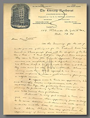 [Fine Autograph Letter, Signed, to Herbert Stone, About Designs for Hamlin Garland's Books]