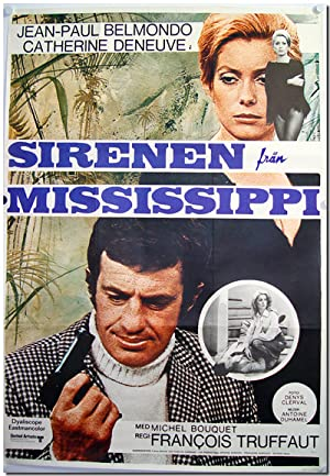 [Swedish Theatrical One Sheet for:] SIRENEN FRÅN MISSISSIPPI [LA SIRÈNE DU MISSISSIPPI a.k/a/ MIS...