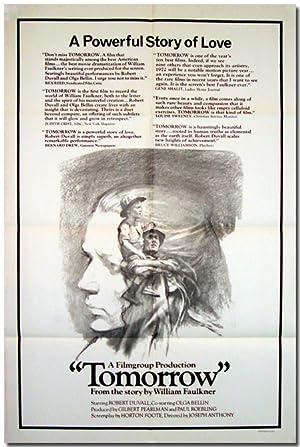 Original Studio Publicity Poster for:] TOMORROW: Faulkner, William [sourcework],