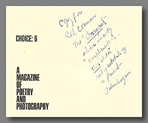 CHOICE: 6 A MAGAZINE OF POETRY AND PHOTOGRAPHY