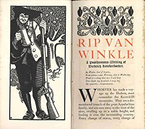 RIP VAN WINKLE FROM THE SKETCH BOOK .