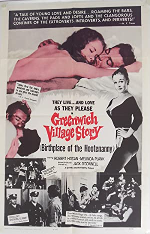 [Original Studio One-Sheet for:] GREENWICH VILLAGE STORY (BIRTHPLACE OF THE HOOTENANNY)
