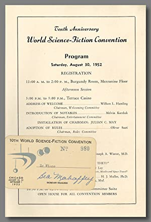 TENTH ANNIVERSARY WORLD-SCIENCE-FICTION CONVENTION PROGRAM . [caption title]