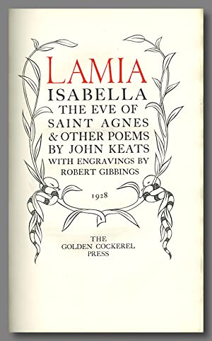 LAMIA ISABELLA THE EVE OF SAINT AGNES & OTHER POEMS