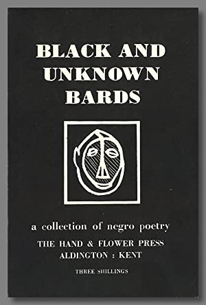 BLACK AND UNKNOWN BARDS A COLLECTION OF NEGRO POETRY [wrapper title]