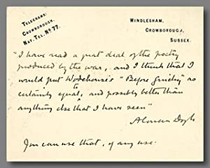 [Autograph Lettercard to Elkin Mathews]