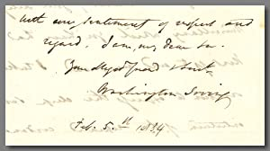 [Autograph Letter, Signed, to George Pope Morris]