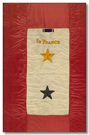 [Original Gold and Blue Star Service Flag, with Distinguished Service Cross Ribbon]