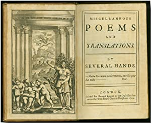 MISCELLANEOUS POEMS AND TRANSLATIONS. BY SEVERAL HANDS