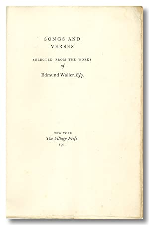 SONGS AND VERSES SELECTED FROM THE WORKS OF.