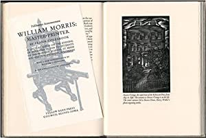 WILLIAM MORRIS: MASTER-PRINTER A LECTURE GIVEN ON: Morris, William]: Colebrook,