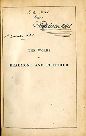 THE WORKS OF BEAUMONT AND FLETCHER. WITH AN INTRODUCTION BY GEORGE DARLEY